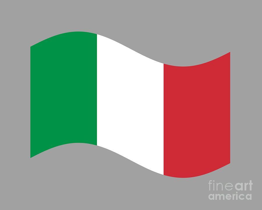 Waving Italy Flag Digital Art By Frederick Holiday
