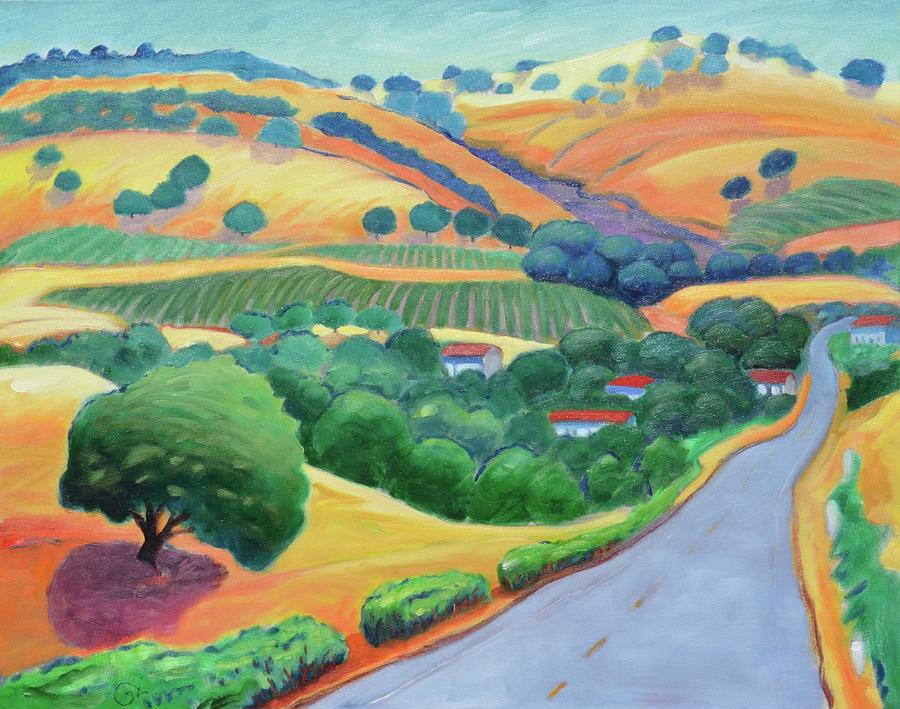 Road Painting - Way To Bear by Gary Coleman