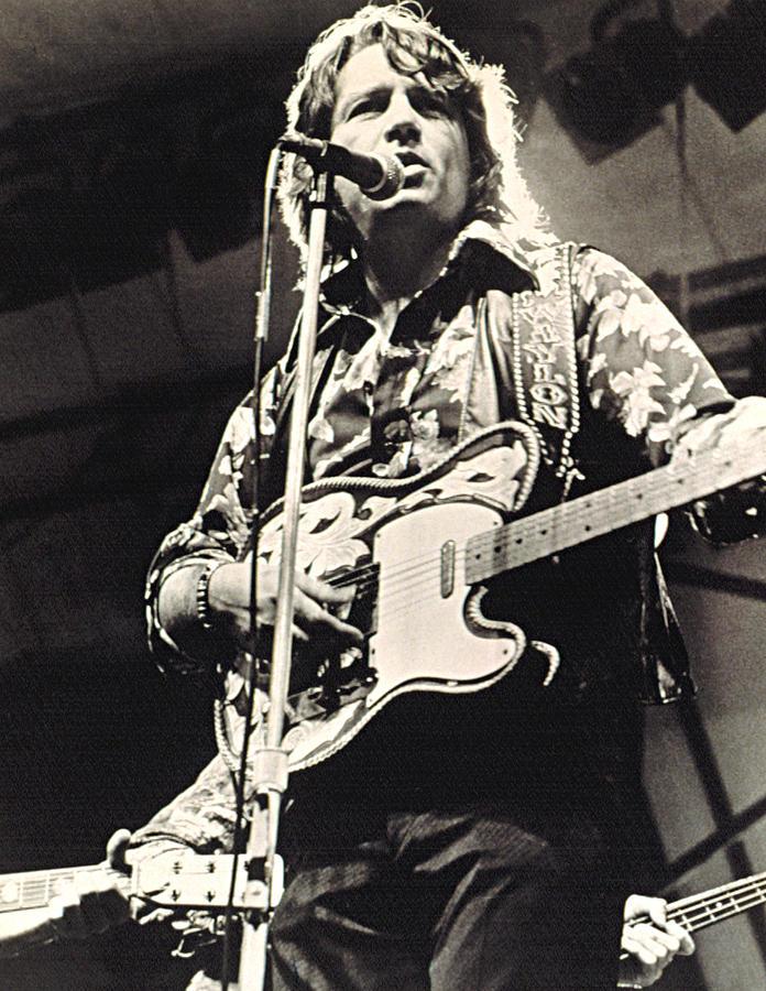 Candid Photograph - Waylon Jennings In Concert, C. 1974 by Everett