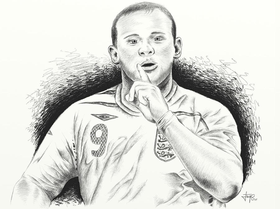 Wayne Rooney With Enggland Painting