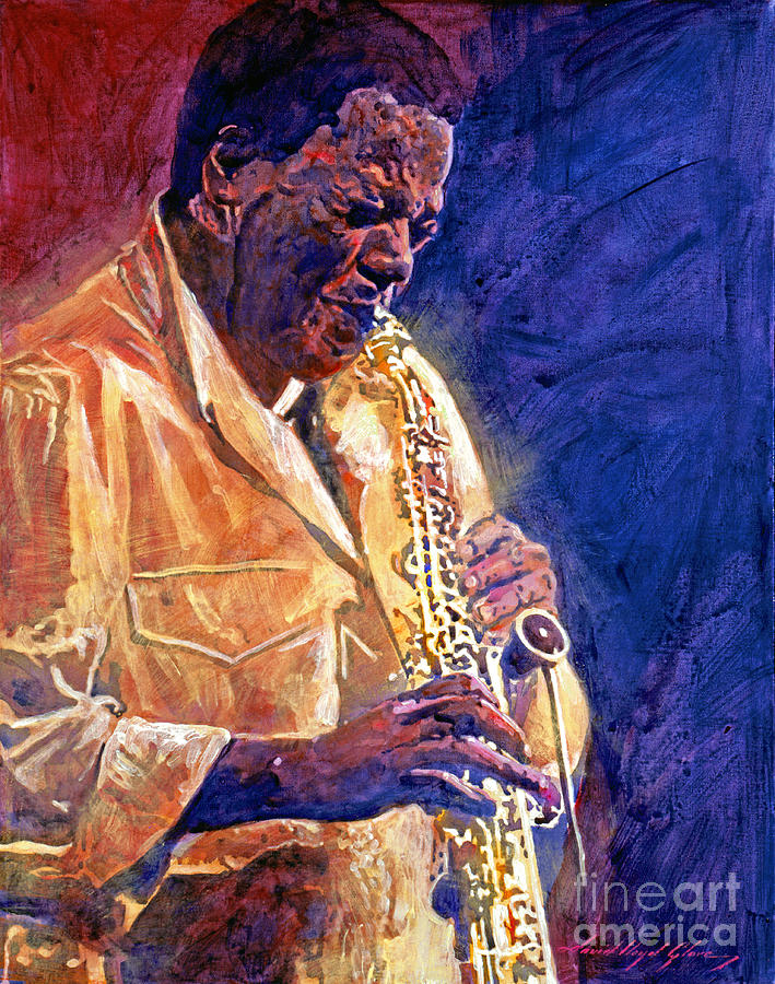 Jazz Legends Painting - Wayne Shorter The Message by David Lloyd Glover