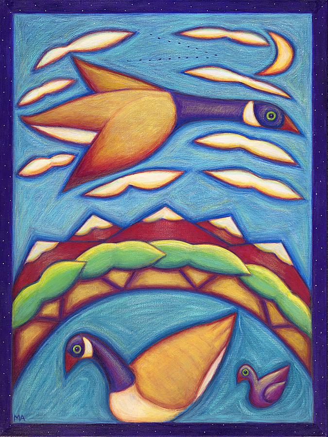 Whimsical Painting - We Are Family by Mary Anne Nagy