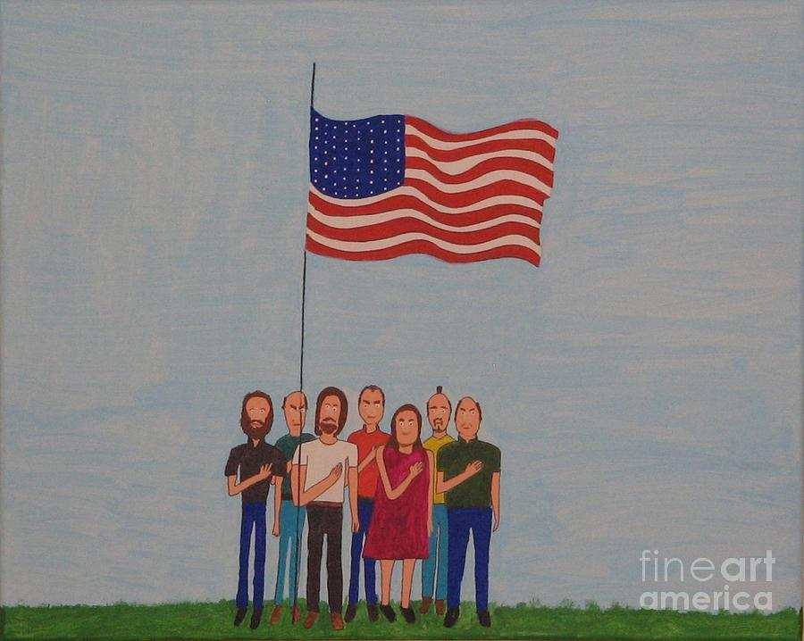 Pledge Of Alegance Painting - We Pledge by Gregory Davis