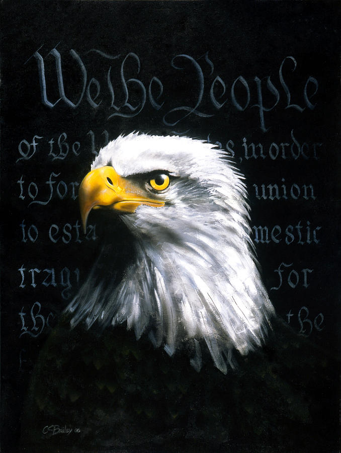 Eagle Painting - We The People by C S Bailey