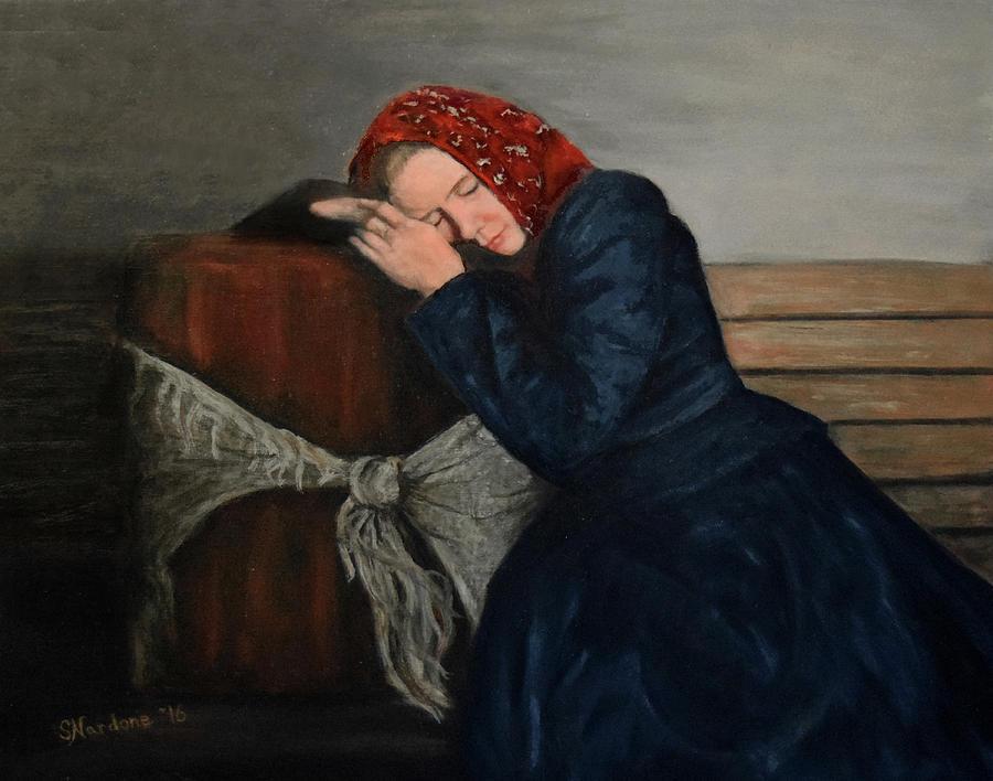 Weary Traveler Painting by Sandra Nardone