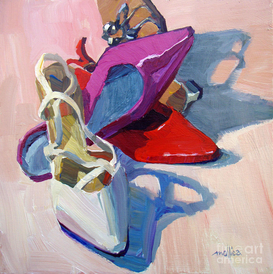 wedding bell shoe painting by patti mollica