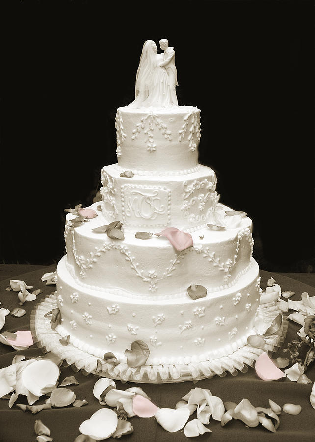 Love Photograph - Wedding Cake Petals by Marilyn Hunt