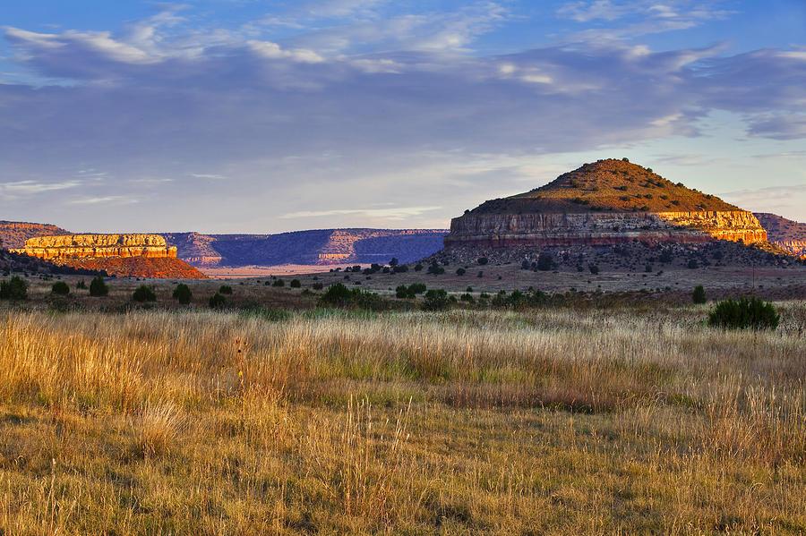 Black Mesa Photograph - Wedding Cake Ranch by Charles Warren