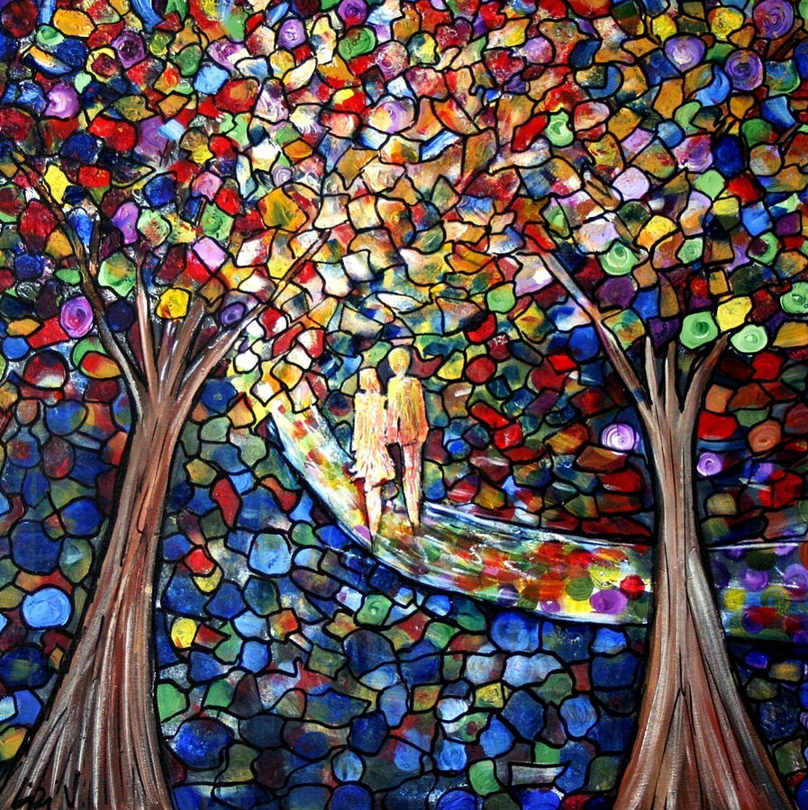 Romance Painting - Wedding In The Park by Luiza Vizoli