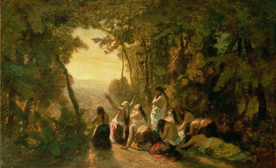 Weeping Of The Daughter Of Jephthah Painting