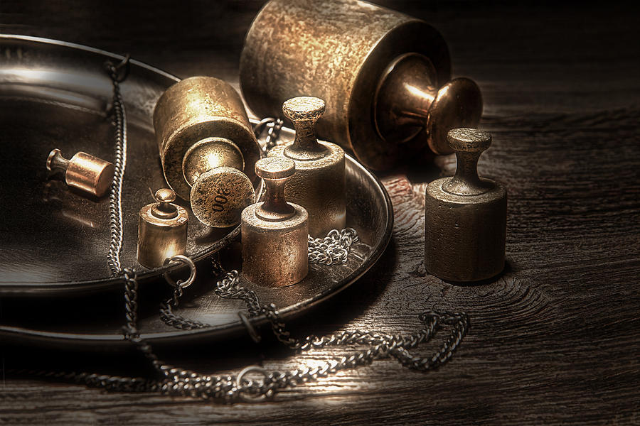 Weights Photograph - Weights And Measures by Tom Mc Nemar