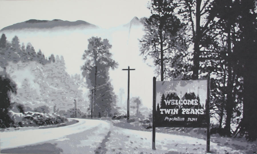 Laura Palmer Painting - Welcome To Twin Peaks by Ludzska