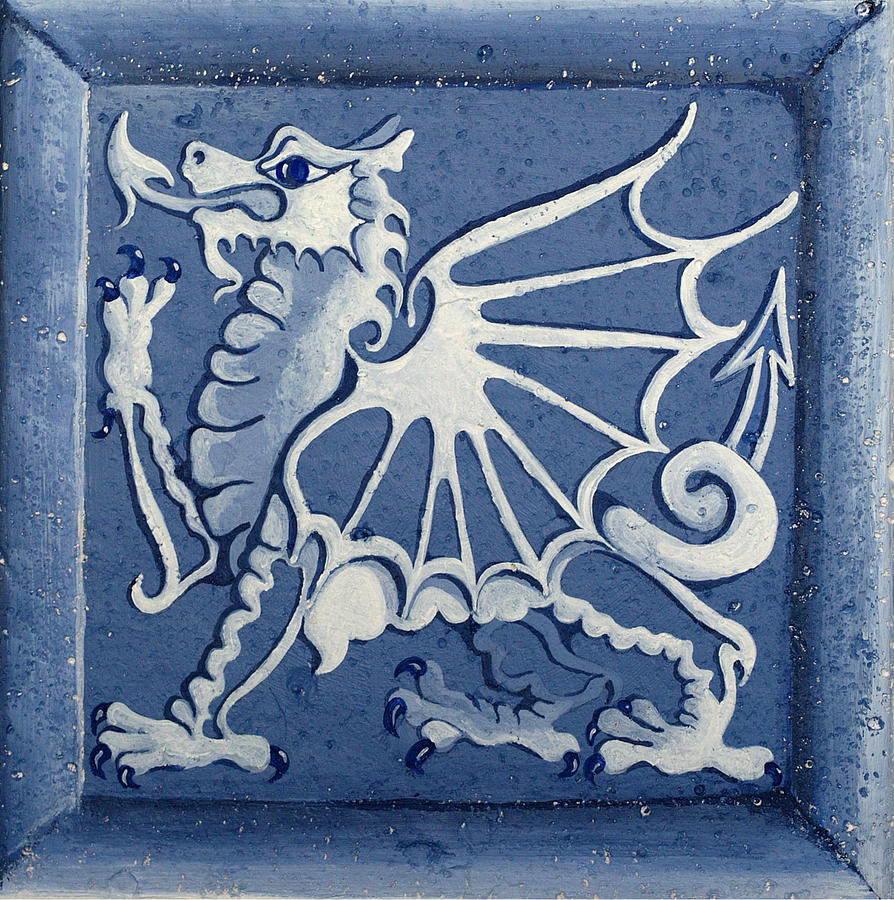 Heritage Painting - Welsh Dragon Panel by Joyce Hutchinson
