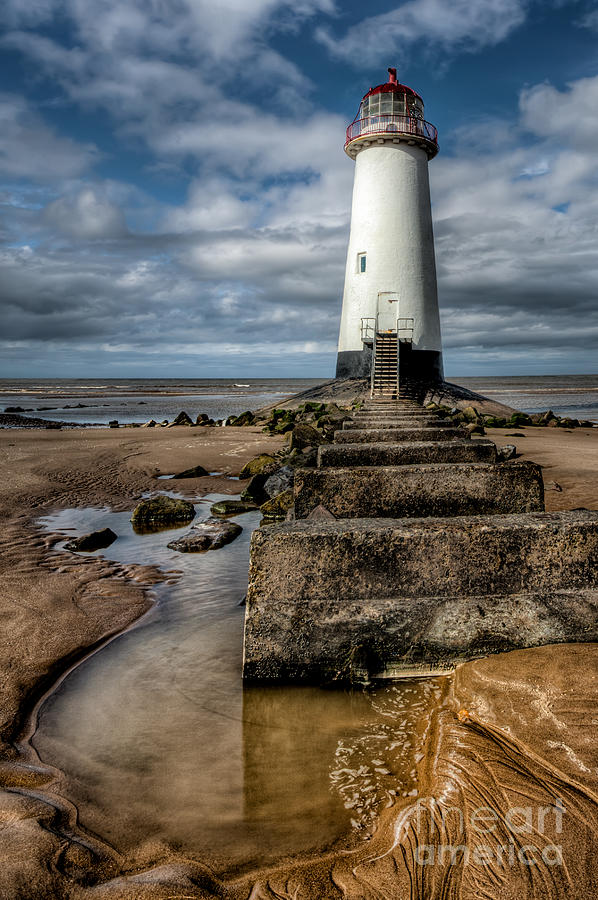 Beach Photograph - Welsh Lighthouse  by Adrian Evans