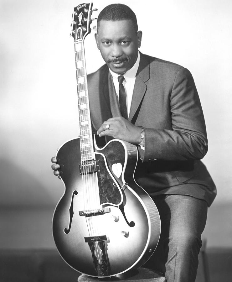 Gibson Guitar Photograph - Wes Montgomery, Early 1960s by Everett