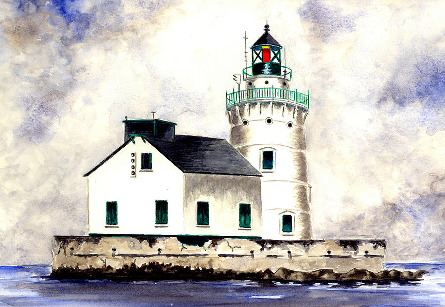 Lighthouse Painting - West Pierhead Lighthouse by Michael Vigliotti