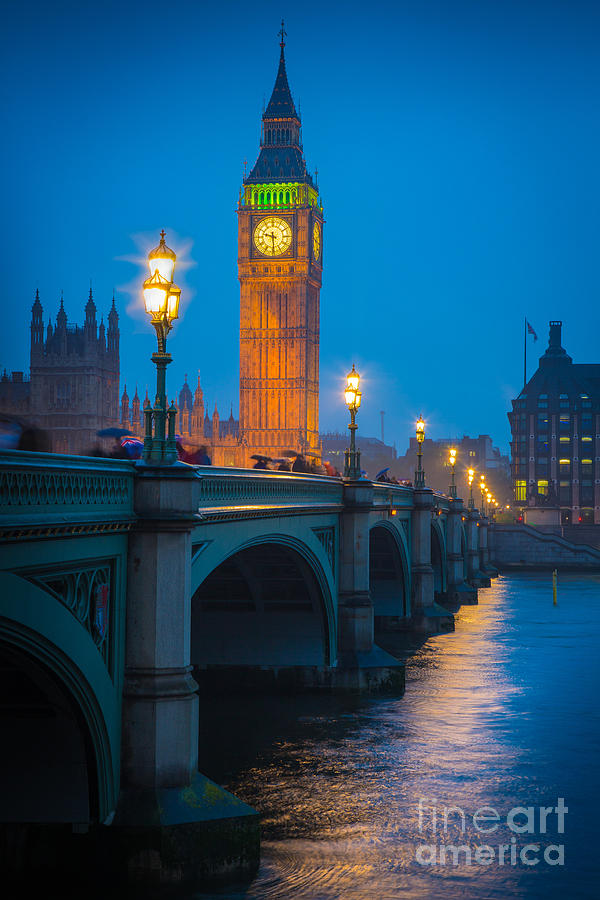 Big Ben Photograph - Westminster Bridge At Night by Inge Johnsson