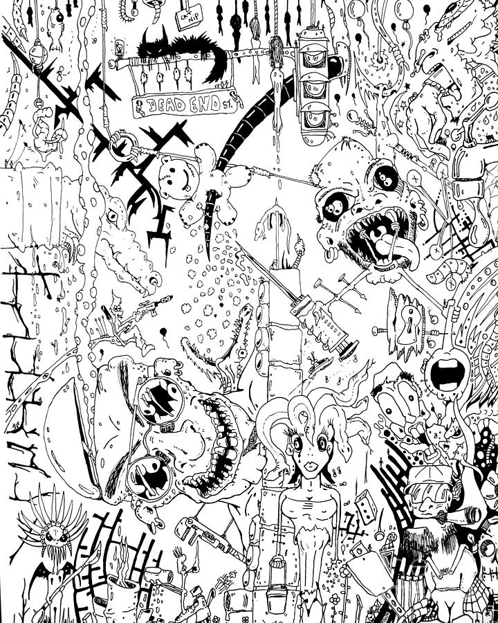 Computer Drawing - What A Mess by Jack Norton