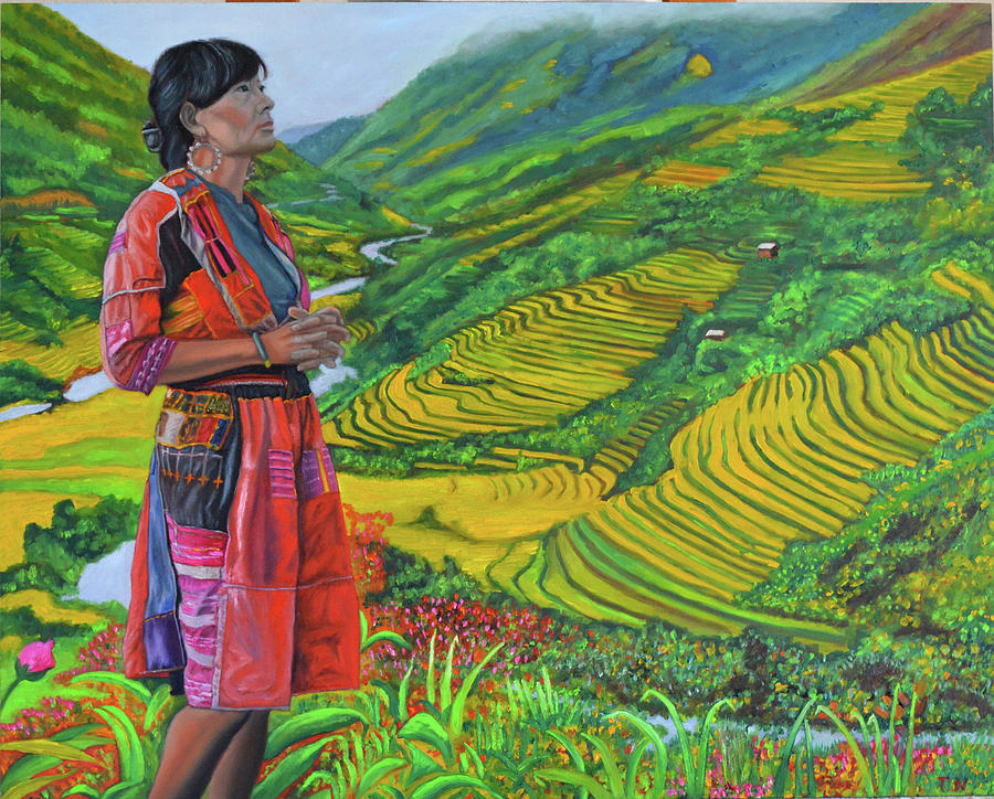 What If Painting by Thu Nguyen Miao People Art