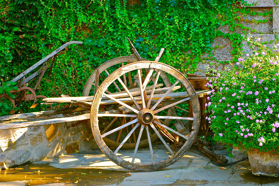 Wooden Wheel Photograph - Wheel Of Happiness by Dorota Nowak