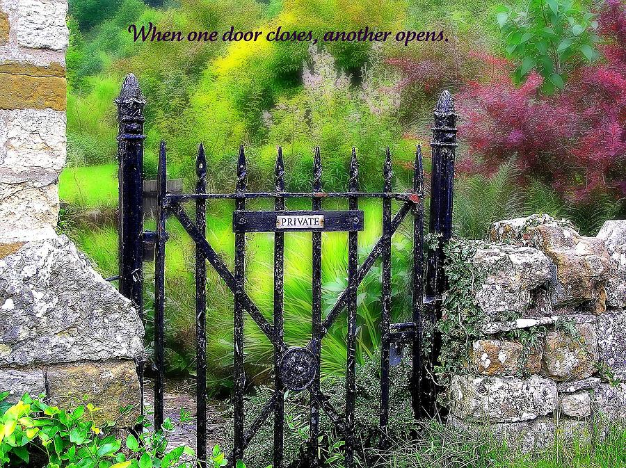 Affirmation Photograph - When One Door Closes by Jen White