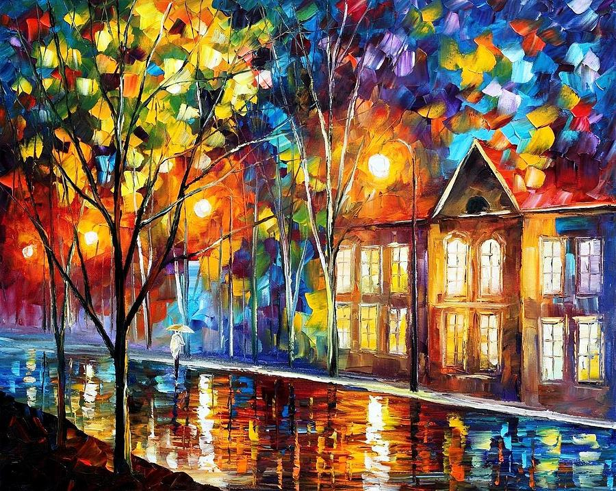 SOMERSAULT — PALETTE KNIFE Oil Painting On Canvas By