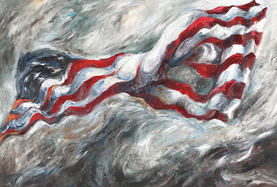 American Flag Painting - When The Dust Settles by Francine Stuart