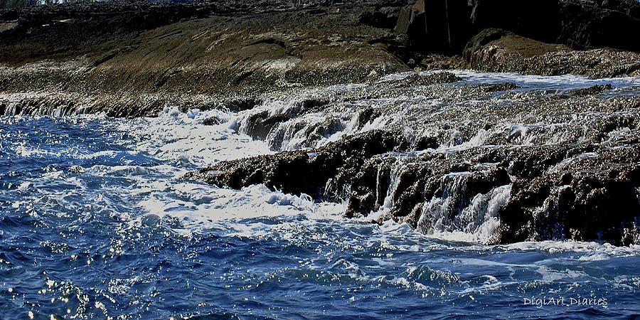 Where Sea And Shore Become One Digital Art