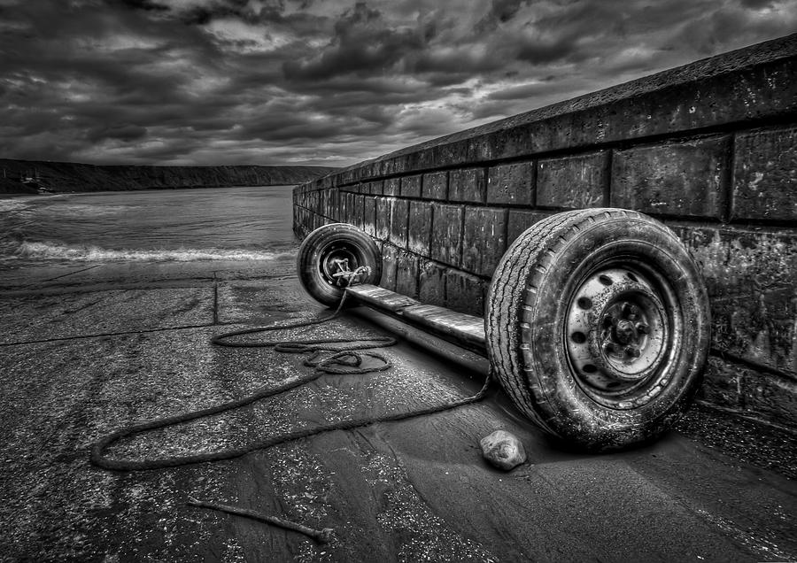 Tire Photograph - Where The Roads End... by Evelina Kremsdorf