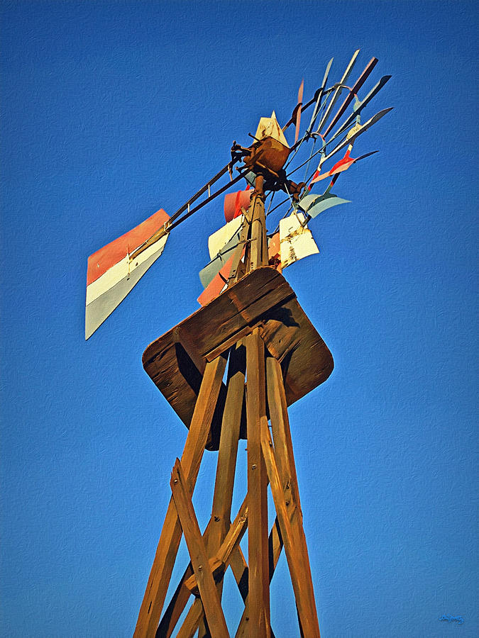 Windmill Tower Photograph - Which Way The Wind Blows by Glenn McCarthy Art and Photography