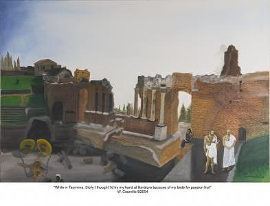 While In Taormina Sicily I Thought I Try My Hand At Literature Because Of My Taste For Passion Fruit Painting