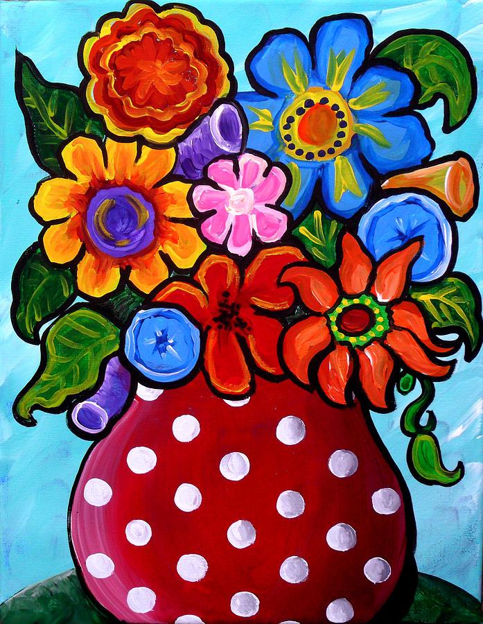 Folk Art Paintings Of Flowers