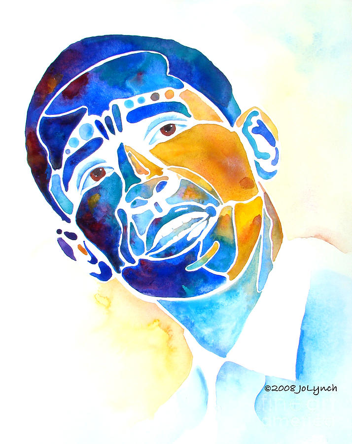 Obama Painting - Whimzical Obama by Jo Lynch
