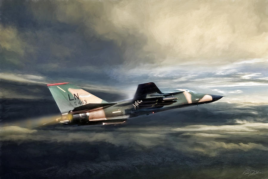Whispering Death F-111 Digital Art by Peter Chilelli