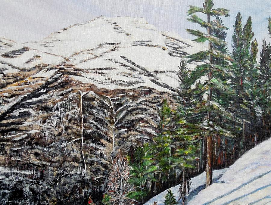 Mountain Painting - Whispering Pines by Marilyn  McNish