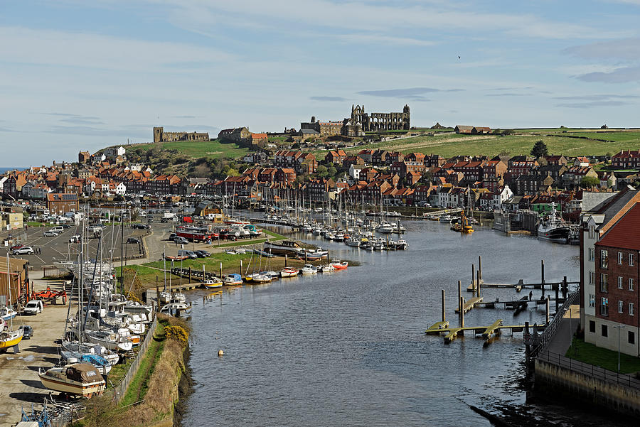 Whitby Marina And The River Esk Photograph