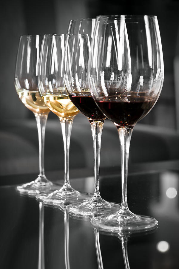 White And Red Wine Glasses Photograph