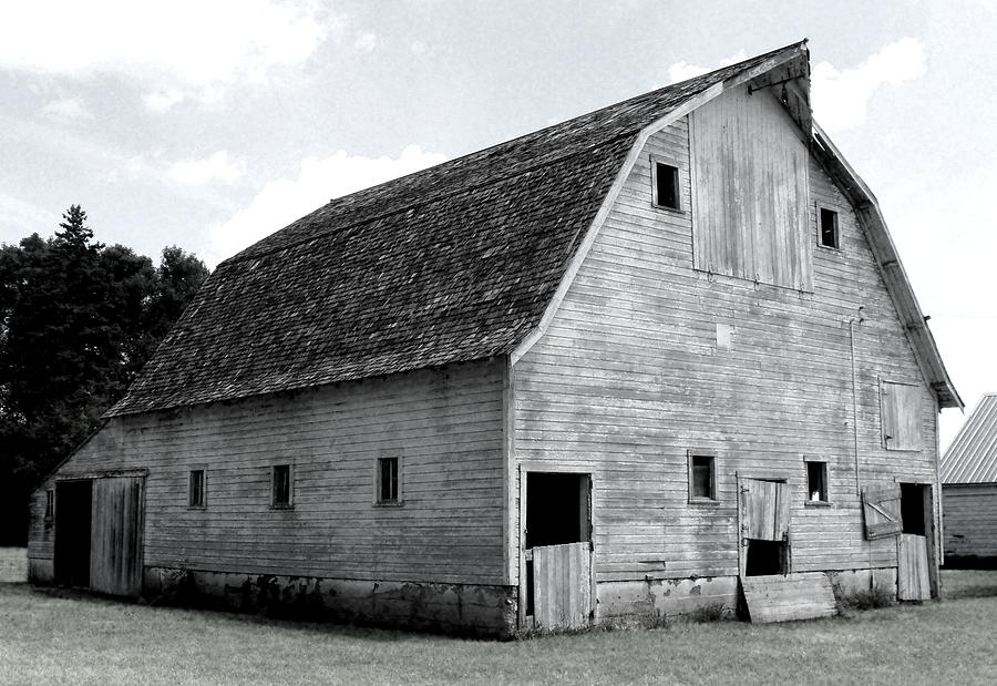 Barn Photograph - White Barn by Julie Hamilton