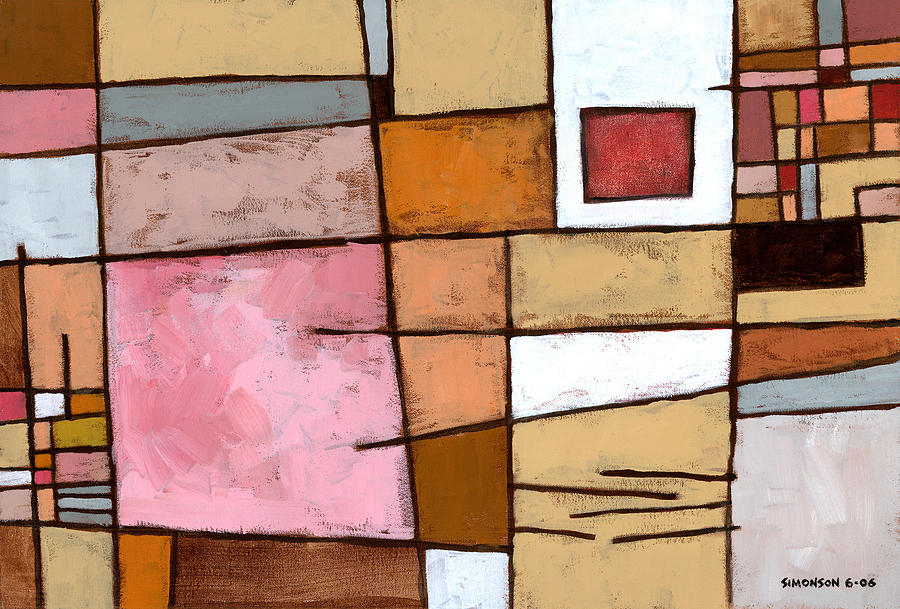Abstract Painting - White Chocolate by Douglas Simonson