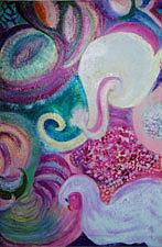 Dream Mixed Media - White Elephant Dreaming by Anne-Elizabeth Whiteway