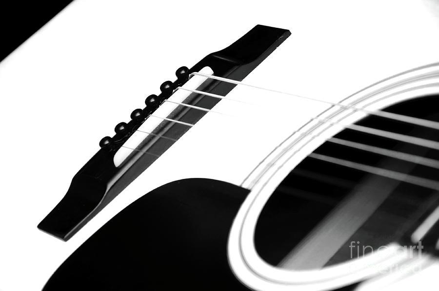 White Guitar 10 Photograph