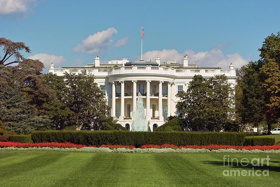 White House South Lawn Washington Dc Photograph