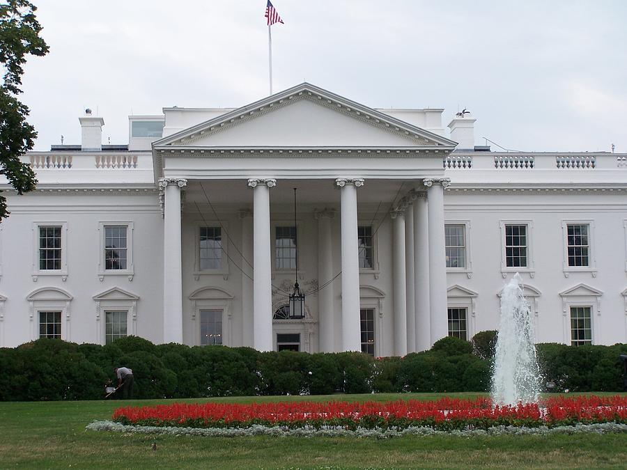 White House Photograph - White House by Vijay Sharon Govender
