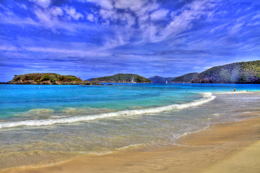 Caribbean Photograph - White Sands Beach by Scott Mahon