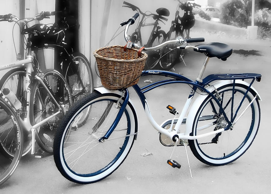 Bike Photograph - White Walls by JAMART Photography