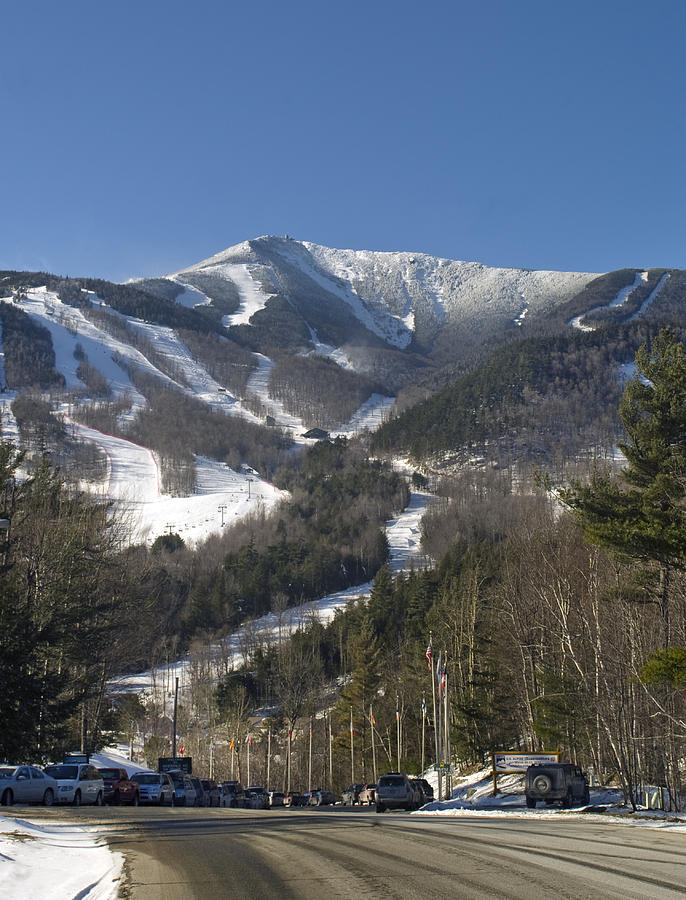Whiteface Photograph - Whiteface Ski Mountain From The Road In Upstate New York Near Lake Placid by Brendan Reals