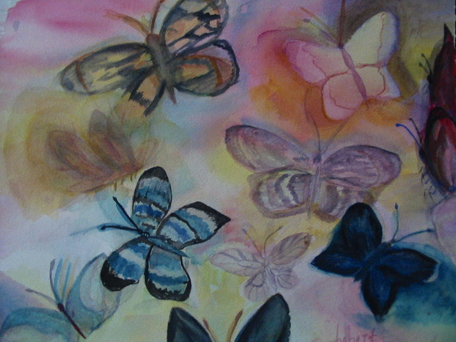 Butterfly Painting - Who Is Prettiest by Marian Hebert