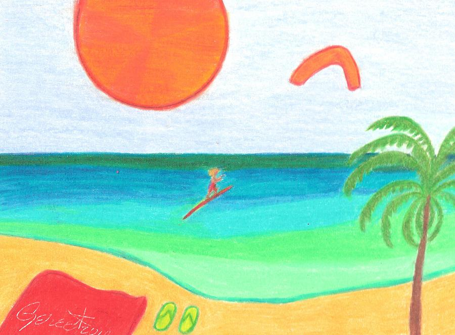 Wind Drawing - Who Needs Waves When There Is Wind by Geree McDermott