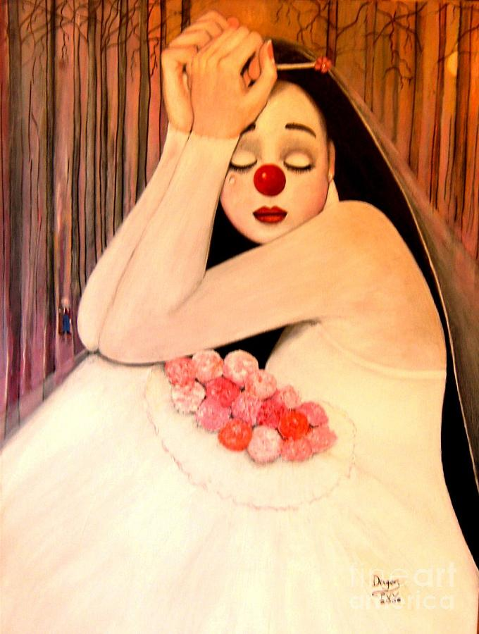 Brides Painting - Why Is The Bride Crying by Patricia Velasquez de Mera