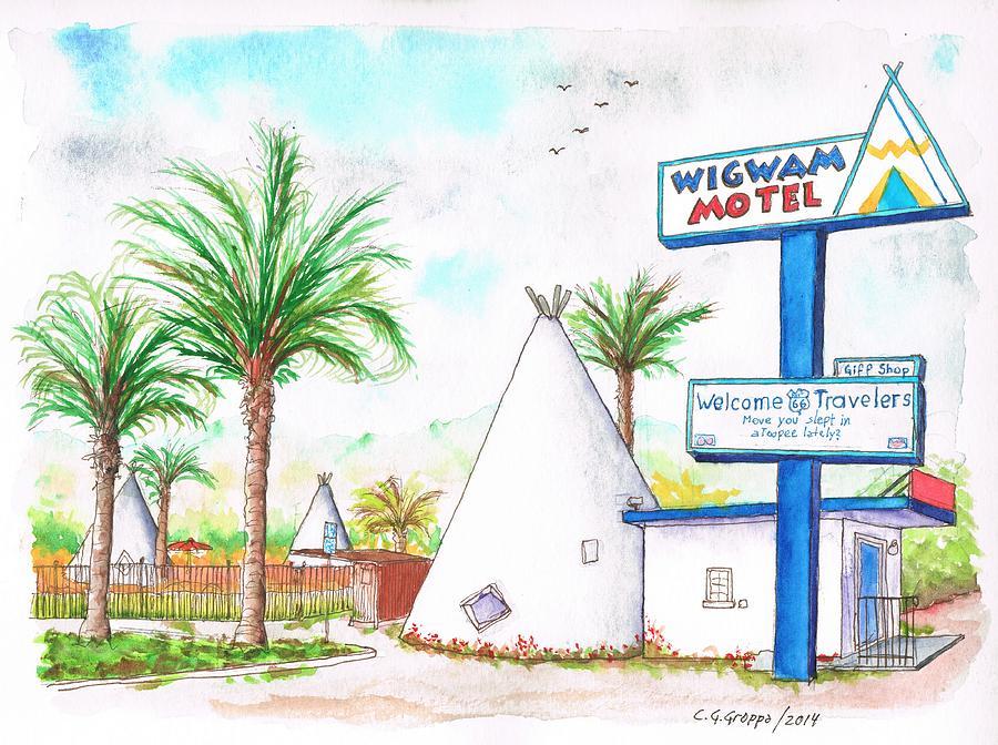 Wigman Motel, Route 66, San Bernardino, Ca Painting